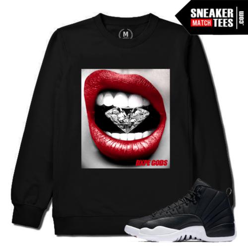 Jordan 12 Neoprene Match Black Crewneck Sweatshirt