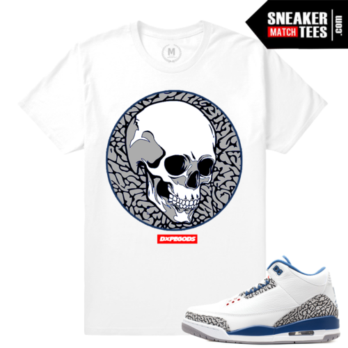 Jordan 3 True Blue Matching T shirt