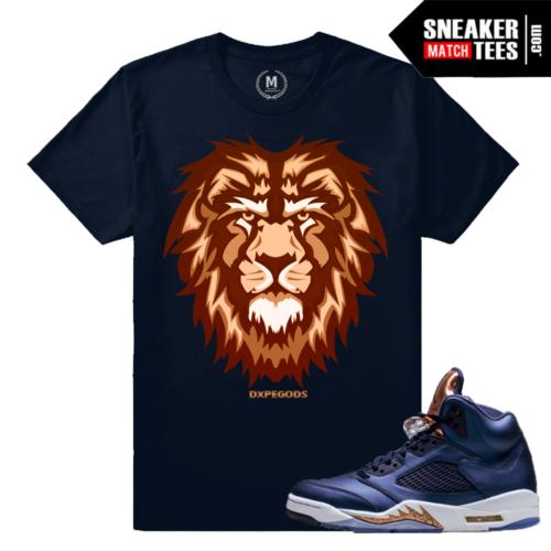 Jordan 5 Bronze Matching shirt