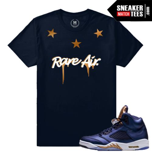 Jordan 5 Bronze Matching Sneaker t shirt