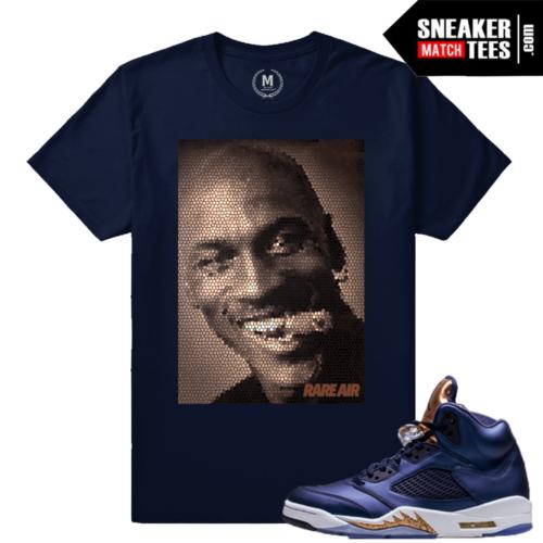 Jordan 5 Bronze T shirts