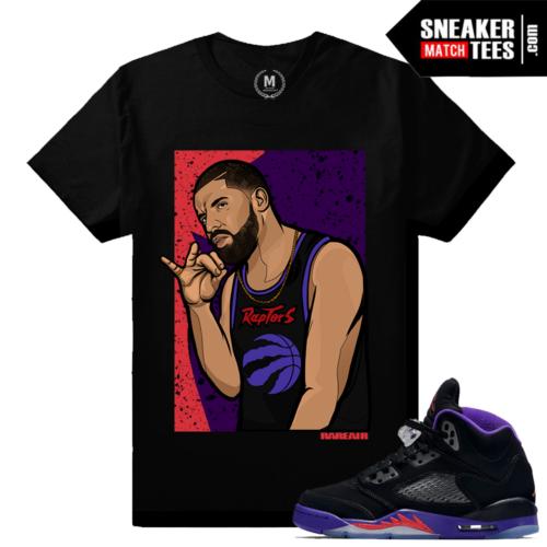 Jordan 5 Raptors GS Matching Drake T shirt