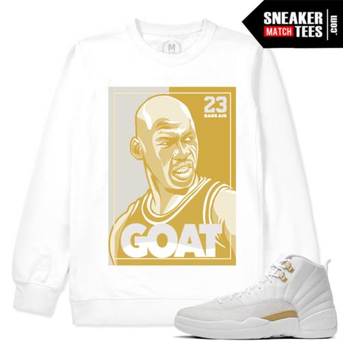 OVO 12 Match Jordan Retro White Sweatshirt