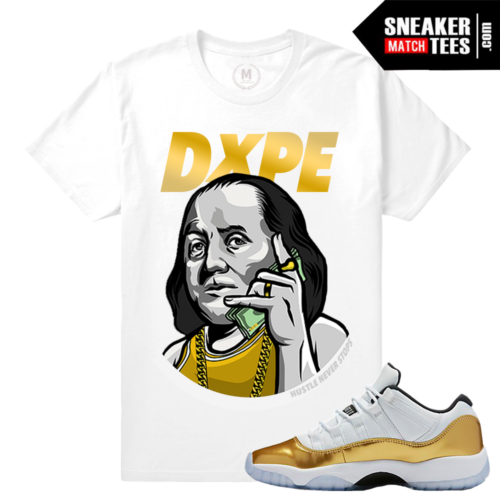 Shirts match Gold 11 lows Jordan Retros
