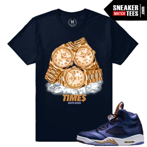 Sneaker Shirt Jordan 5 Bronze Match
