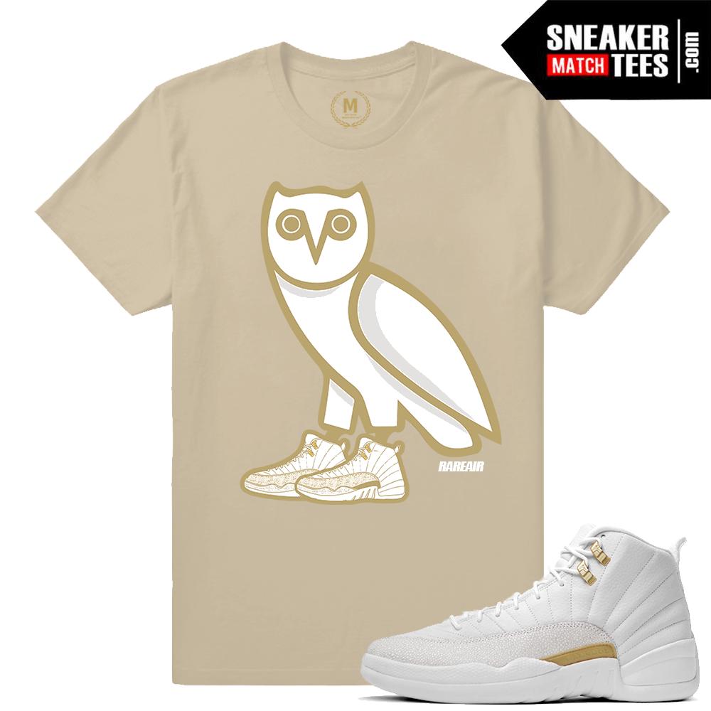 c90d6466736 Sneaker Tee Shirt OVO Jordan 12 | Sneaker Match Tees OVO 12