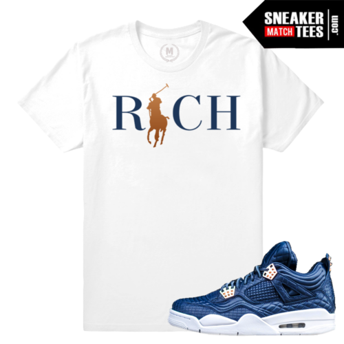 Sneaker Tee Shirt Match Obsidian 4 Premium Jordan