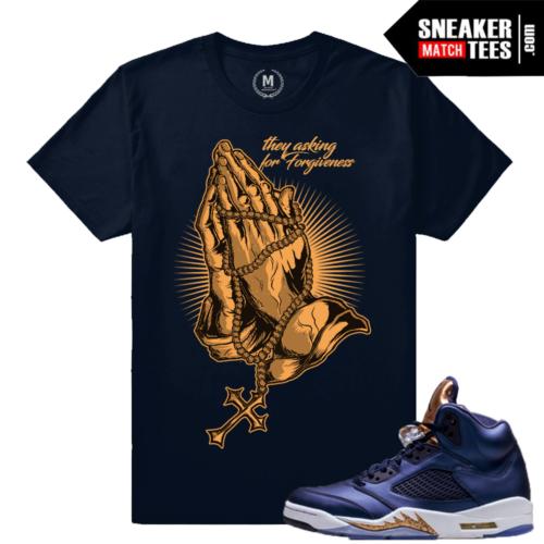 Sneaker Tees Match Jordan 5 Bronze tees