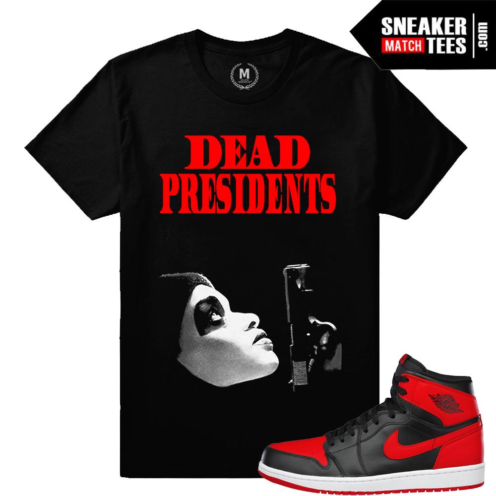 separation shoes 2ef5b 5003b Match Banned 1s Jordan Retro | Dead Presidents | Black T shirt