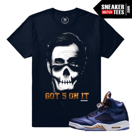 Sneaker Tees Match Jordan 5 Bronze