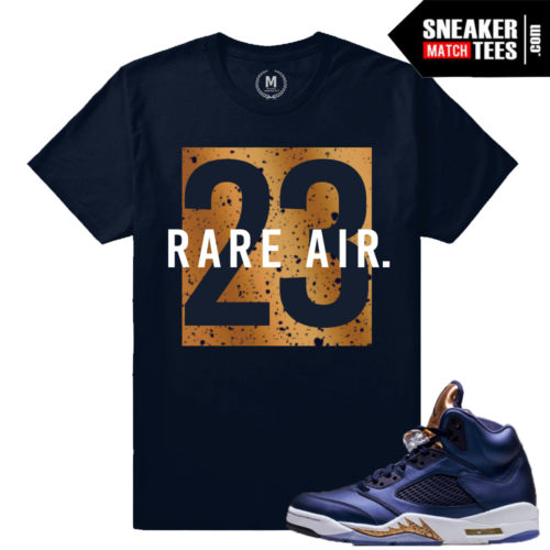 T shirt Match Bronze 5 Jordan Retro