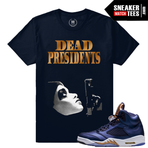 T shirt Match Sneakers Jordan 5 Bronze Retros
