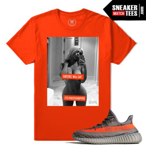 T shirt Match Yeezy Boost 350 V2 Beluga