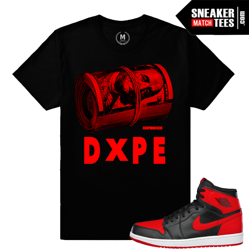 T Shirts Match Banned 1 Jordan Shoes Sneaker Match Tees
