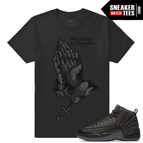 T shirts match Jordan 12 Wool Sneakers