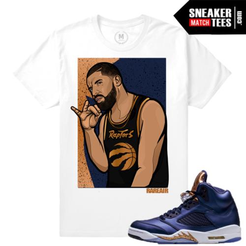 T shirts Matching Bronze 5 Jordans