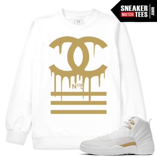 White Sweatshirt Match OVO 12 Jordans