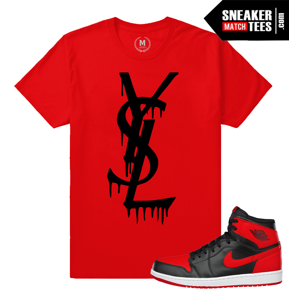 f23ca6f1e94a Match Jordan 11 Space Jam YSL Drip Black T-shirt Jordan 11 Red ...