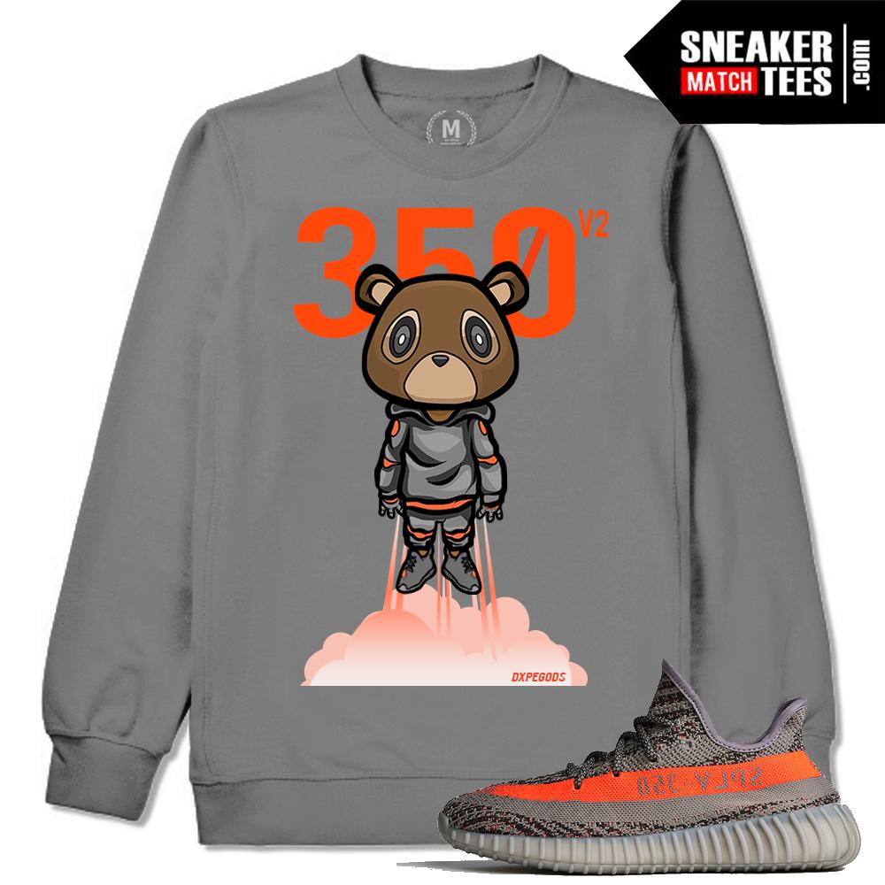 Yeezy Boost 350 VA Beluga Matching Sweat Shirt Sneaker Match Tees