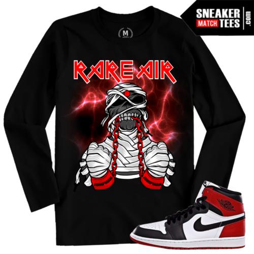 Air Jordan 1 Black Toe Long Sleeve T shirt