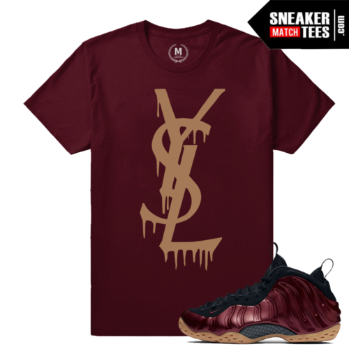 Foam T shirts Maroon Foamposite