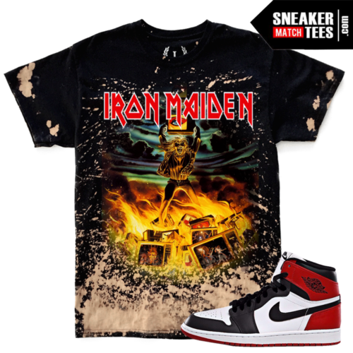 Iron Maiden Bleach Vintage Style shirt Match Black toe 1