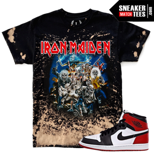 Jordan 1 Black Toe Match Bleach Vintage Style Tee