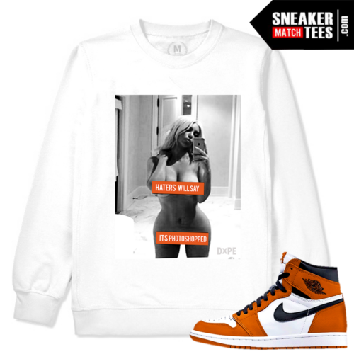 Jordan 1 Reverse Shattered Backboard 1 White Crewneck