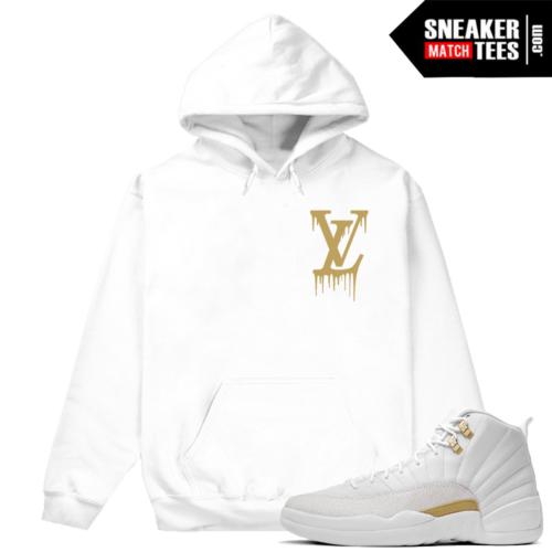 Jordan 12 OVO Match White Hoodie