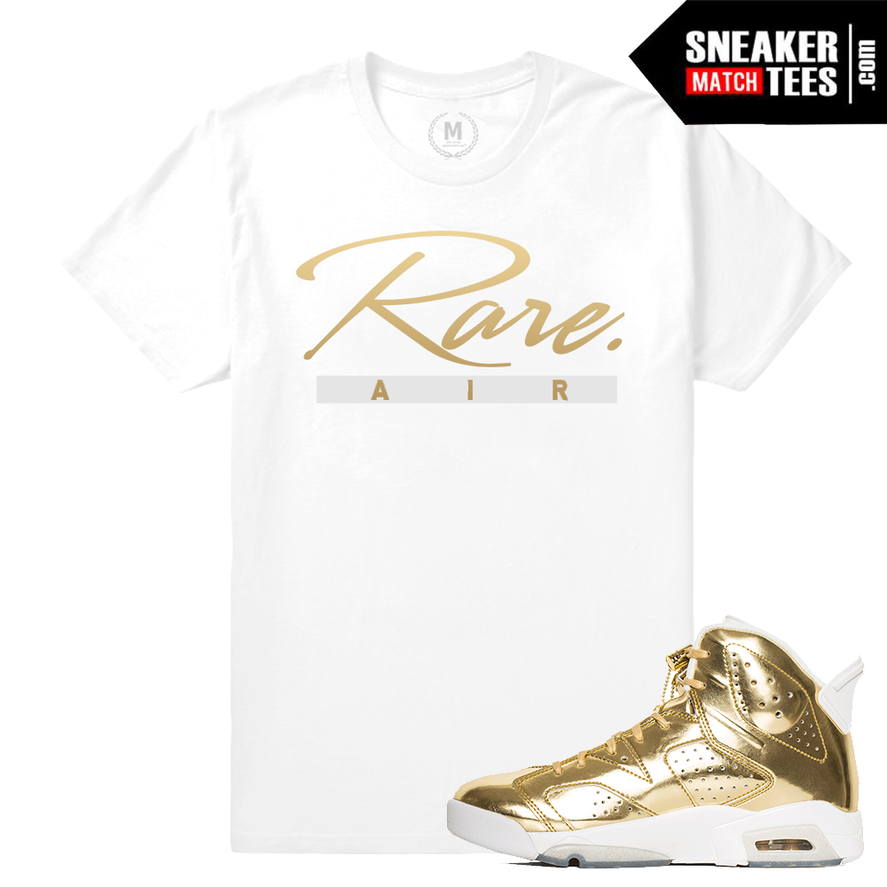 c156c8f284d2 Jordan 6 Pinnacle Gold Tee Shirt