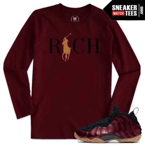 Maroon Foamposite T shirts