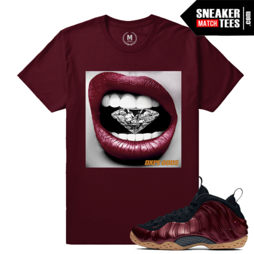 Maroon Foams T shirt match Nike Foams