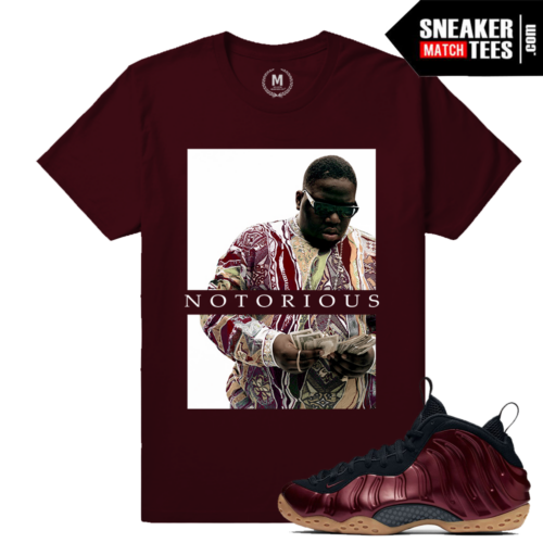 Maroon Foams T shirt Matching Sneakers