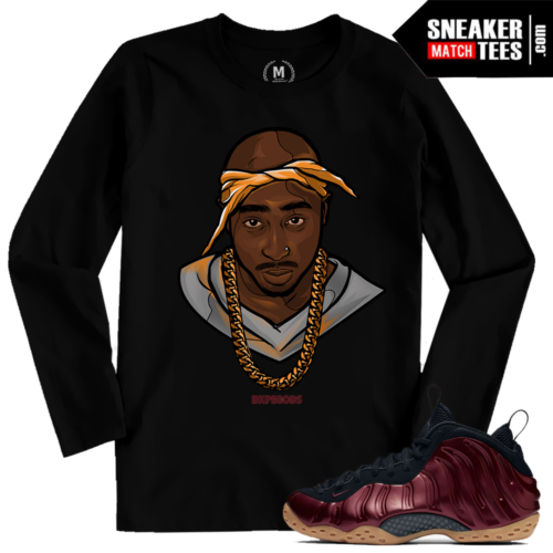 Maroon Foams T Shirt Match Foamposite Maroon