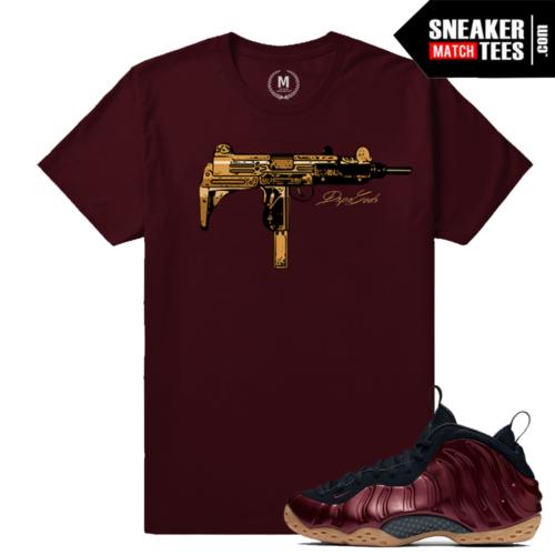 Maroon Foams Matching Sneaker Tees shirt