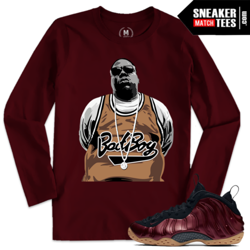 Night Maroon Foamposite Match Sneaker Tees