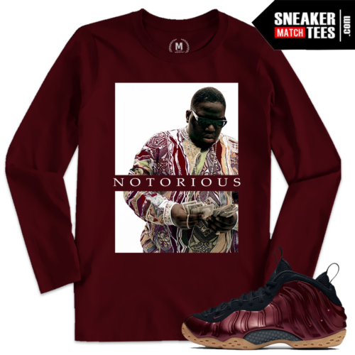 Night Maroon Foamposite T shirt Match