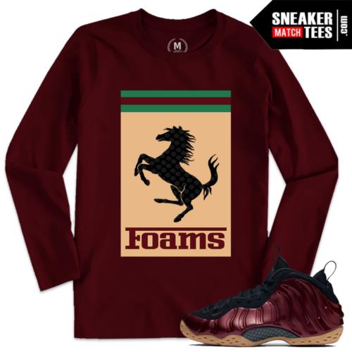 Night Maroon Foams Sneaker Tee Shirts