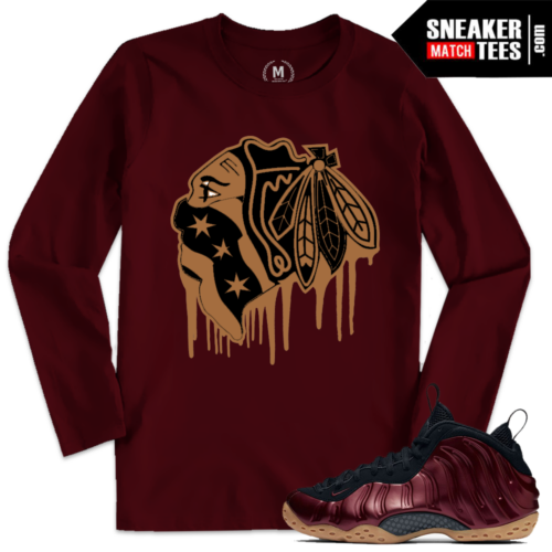 Night Maroon Nike Foams T shirt