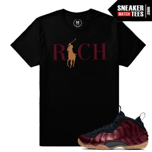 Nike Maroon Foams Match T shirt Country Club Rich