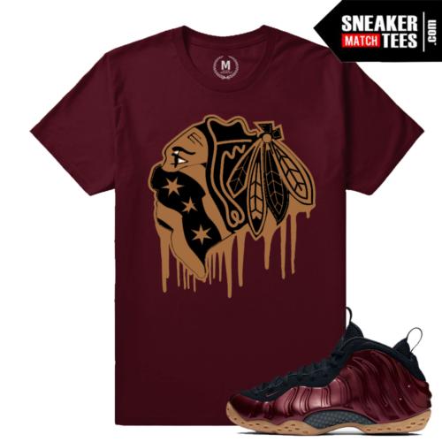 Nike Maroon Foams T shirt Matching