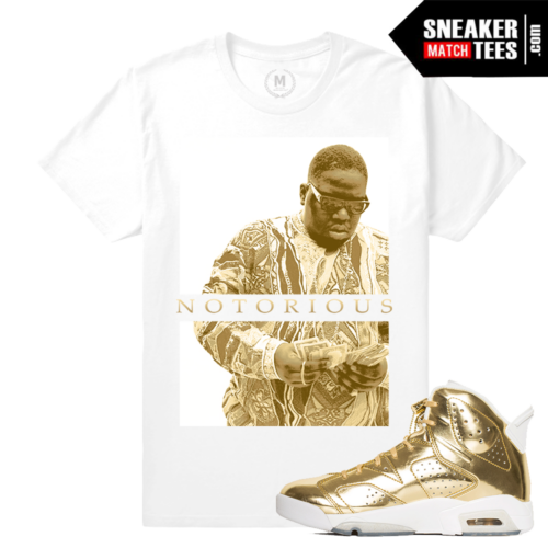 Pinnacle Gold 6s Jordan T shirts
