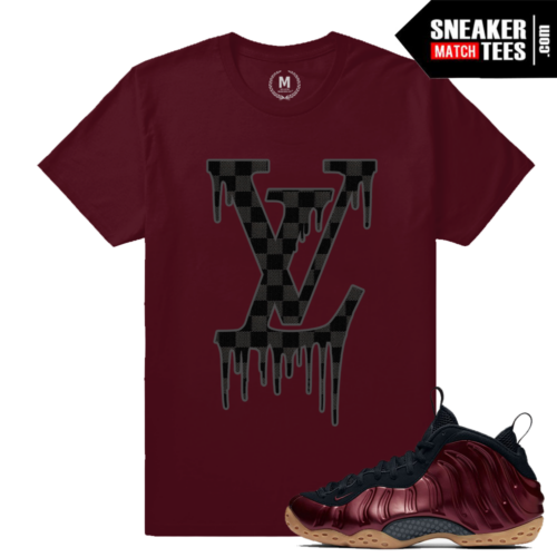 Shirts matching Maroon Foamposite Nike