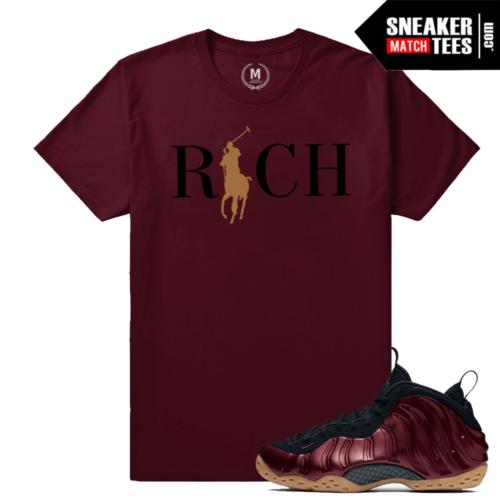 Sneaker Match Tees Maroon Foams Nike