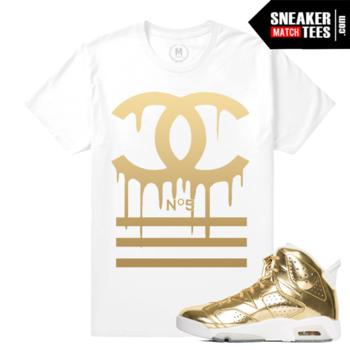 Jordan 6 Pinnacle Gold T shirt
