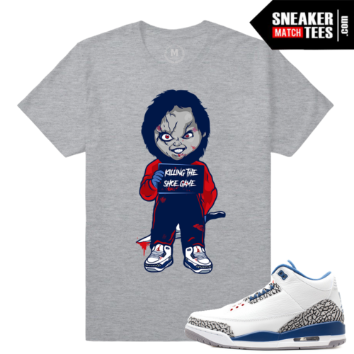 Sneaker Tees Match True Blue 3s Jordans