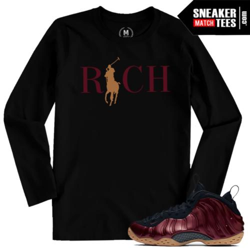 Sneaker Tees Shirts Match Maroon Foams