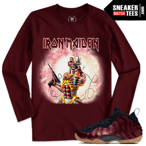 T shirts Matching Night Maroon Foams Iron Maiden
