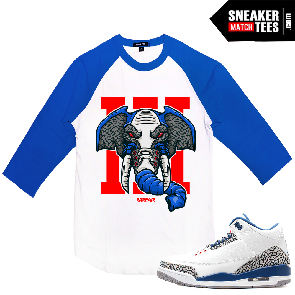sneakers for cheap 35e11 24dd7 Air Jordan 3 True Blue Raglan T shirt | Sneaker Match Tees