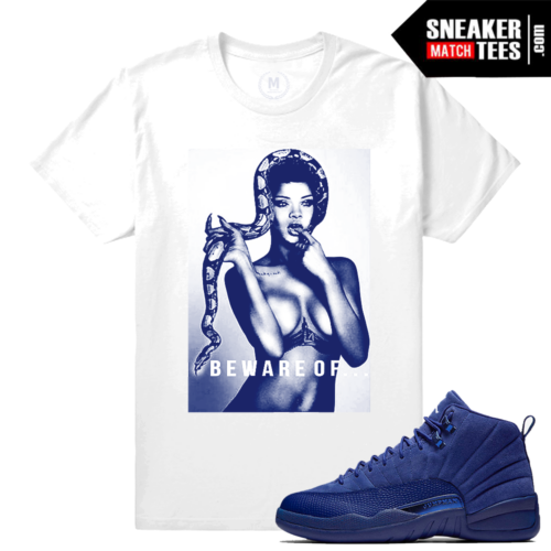 Blue Suede 12 Match Jordan T shirts
